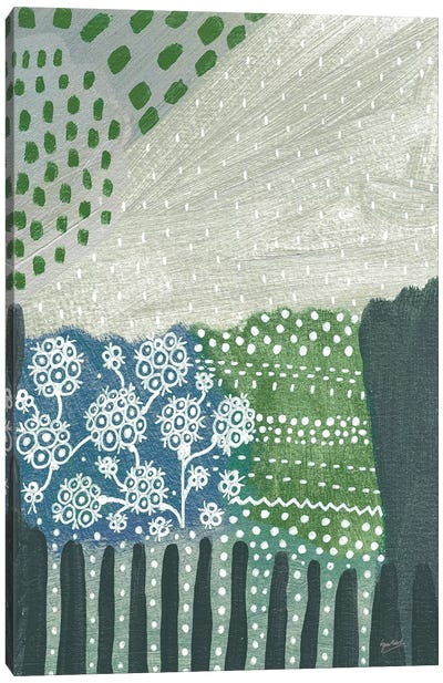 Salt Shrub I Green Canvas Art Print