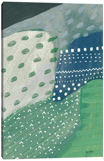 Salt Shrub II Green Canvas Art Print