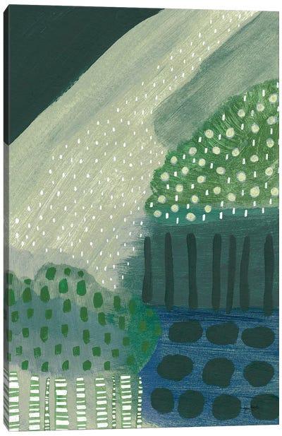 Salt Shrub III Green Canvas Art Print