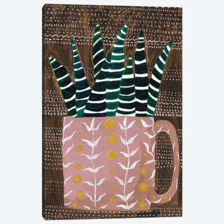 Succulent Cup Canvas Print #LMC8} by Lynn Mack Art Print
