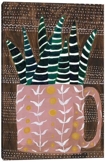 Succulent Cup Canvas Art Print