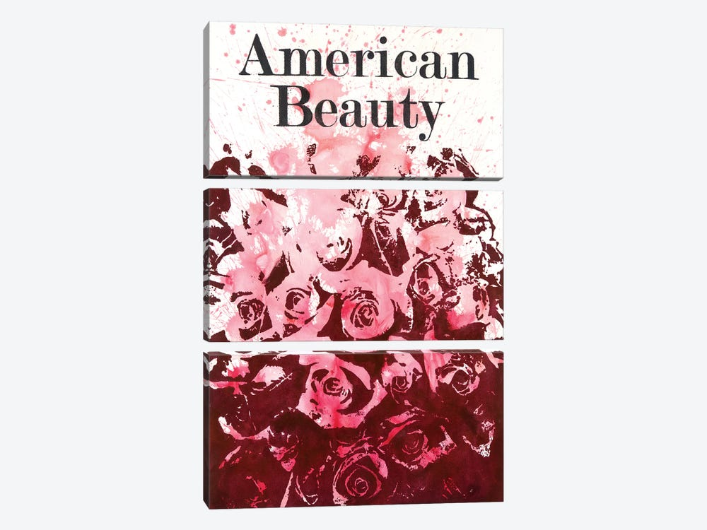 American Beauty II by Laura Mae Dooris 3-piece Canvas Art Print