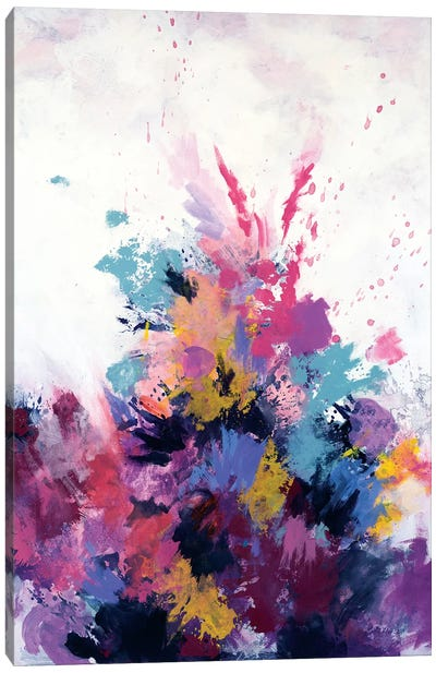 Flora Burst Canvas Art Print
