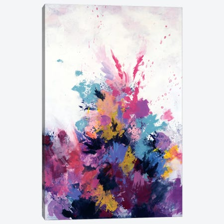 Flora Burst Canvas Print #LMD13} by Laura Mae Dooris Canvas Wall Art