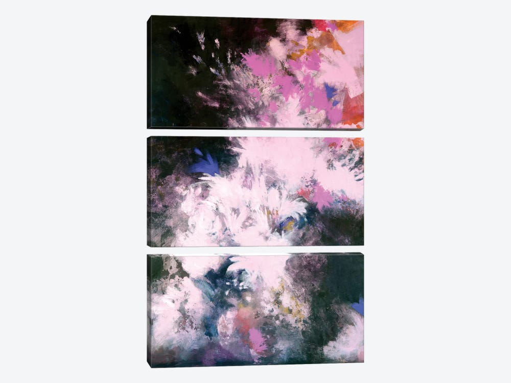 Interstellar Bloom by Laura Mae Dooris 3-piece Canvas Print