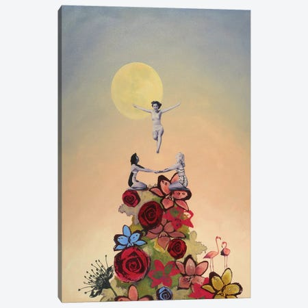 Jubilant Canvas Print #LMD30} by Laura Mae Dooris Canvas Artwork