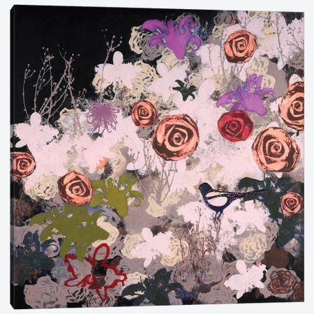 Night Bloomer Canvas Print #LMD31} by Laura Mae Dooris Canvas Art