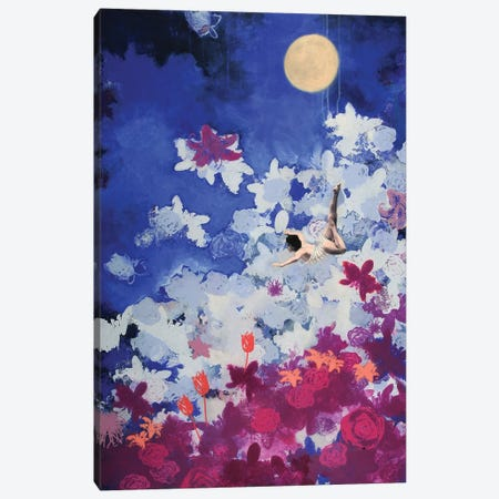 Night Swimmer Canvas Print #LMD32} by Laura Mae Dooris Canvas Artwork