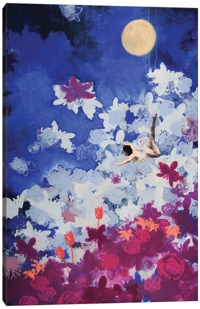 Night Swimmer Canvas Art Print