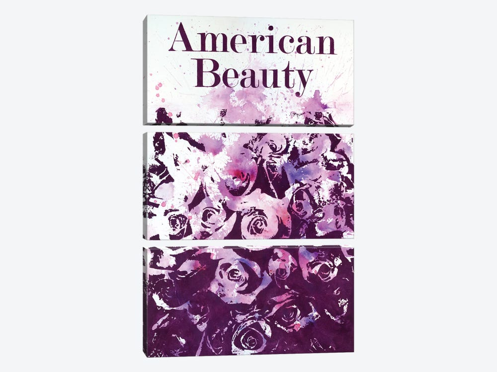 American Beauty I 3-piece Canvas Artwork