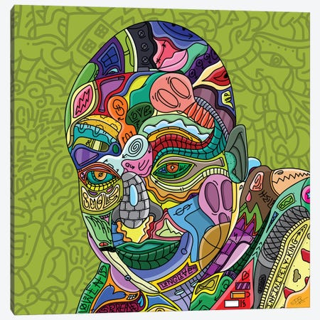Thank You Rico Canvas Print #LME17} by Edo Canvas Wall Art