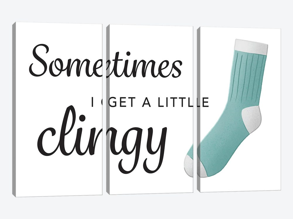 Clingy by Leslie Mcfarland 3-piece Canvas Wall Art