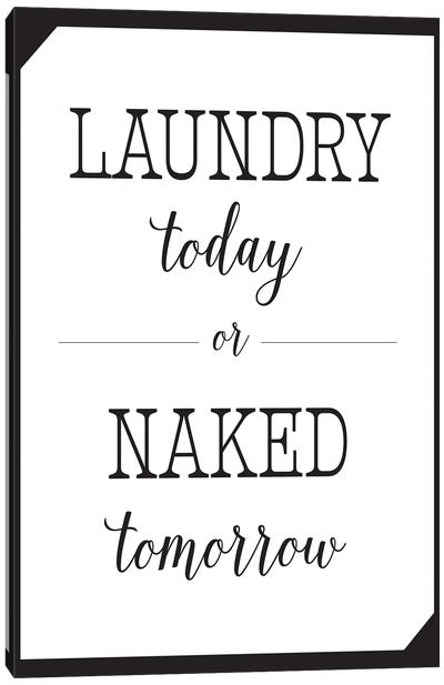 Laundry Today Canvas Art Print