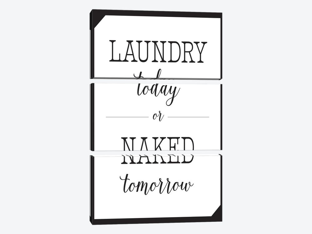 Laundry Today by Leslie Mcfarland 3-piece Art Print