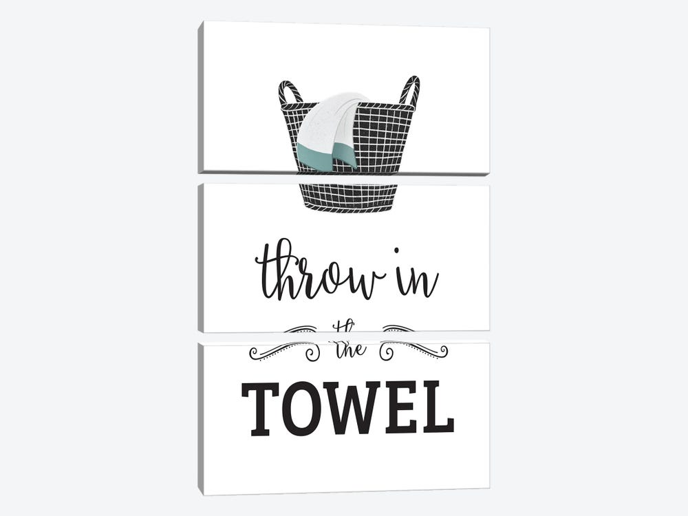 Throw in Towel by Leslie Mcfarland 3-piece Canvas Art