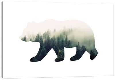 Bear Silhouette I Canvas Art Print