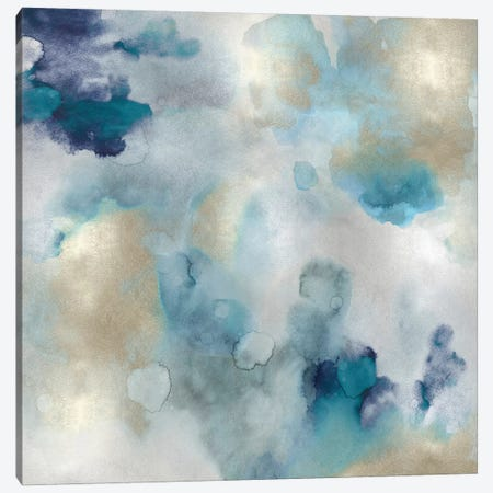 Aqua Movement I Canvas Print #LMI1} by Lauren Mitchell Canvas Art Print