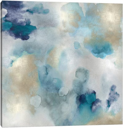 Aqua Movement I Canvas Art Print