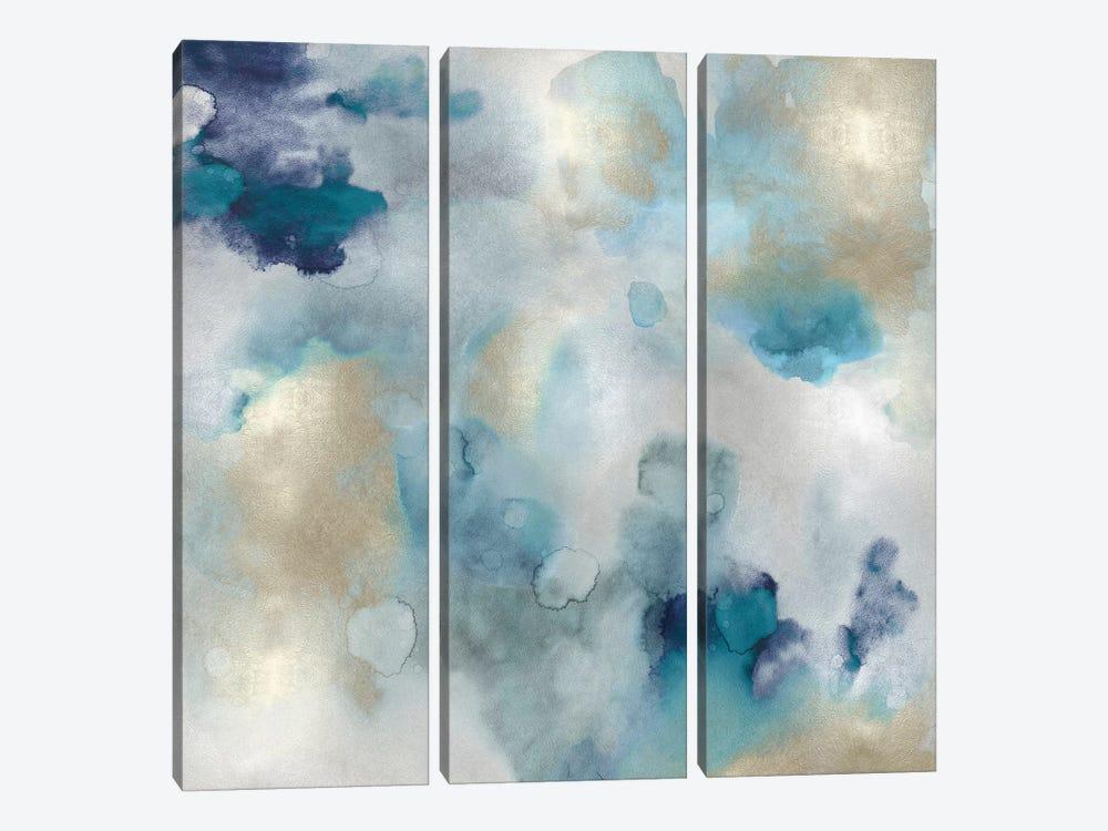 Aqua Movement I by Lauren Mitchell 3-piece Canvas Art Print