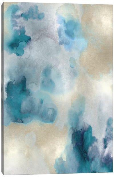 Whisper in Aqua I Canvas Art Print