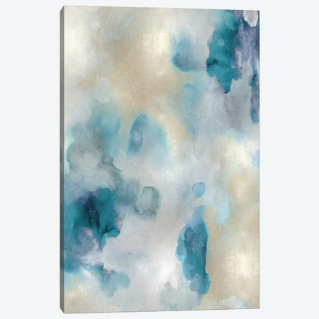 Whisper in Aqua III Canvas Print #LMI30} by Lauren Mitchell Art Print