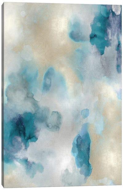Whisper in Aqua III Canvas Art Print