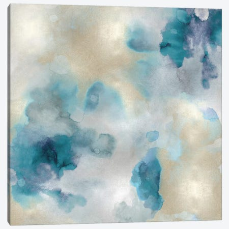Aqua Movement III Canvas Print #LMI3} by Lauren Mitchell Canvas Print