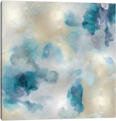 Aqua Movement III Canvas Art Print