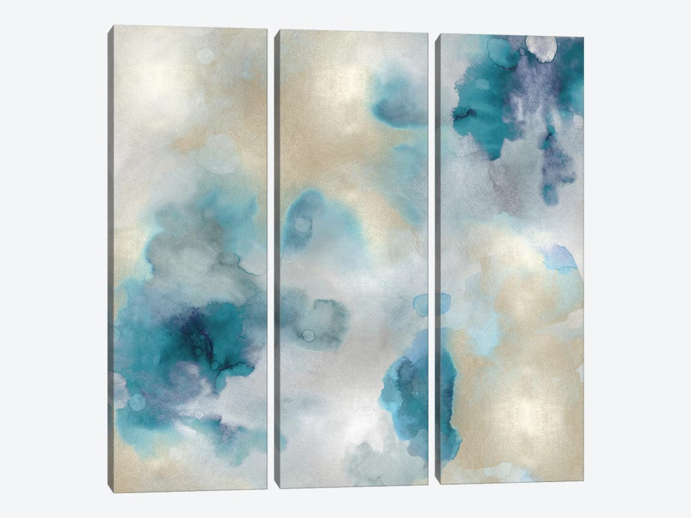 Aqua Movement III by Lauren Mitchell 3-piece Canvas Print