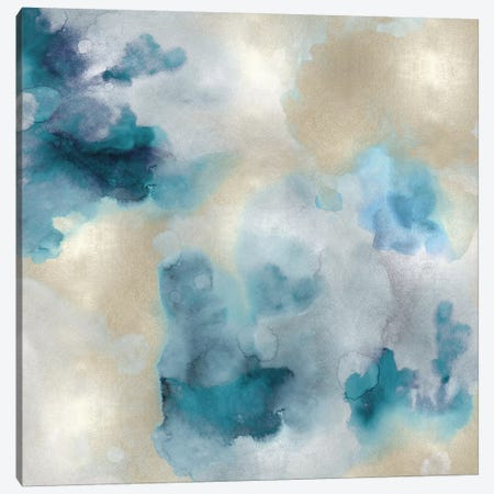 Aqua Movement IV Canvas Print #LMI4} by Lauren Mitchell Canvas Art