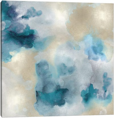 Aqua Movement IV Canvas Art Print