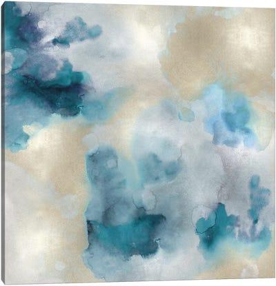 Aqua Movement IV Canvas Art Print