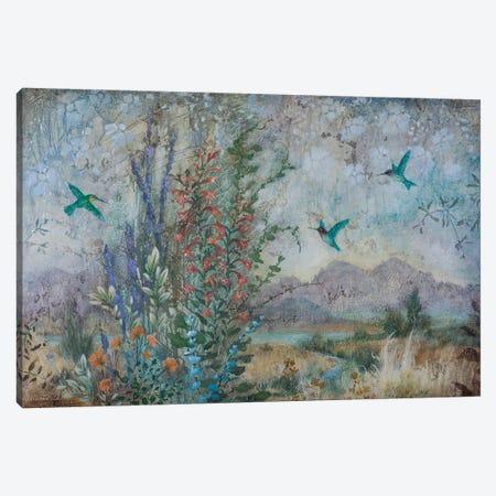 Dance of the Hummingbirds Canvas Print #LMK19} by Lisa Marie Kindley Art Print