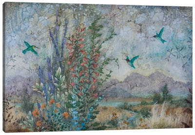 Dance of the Hummingbirds Canvas Art Print