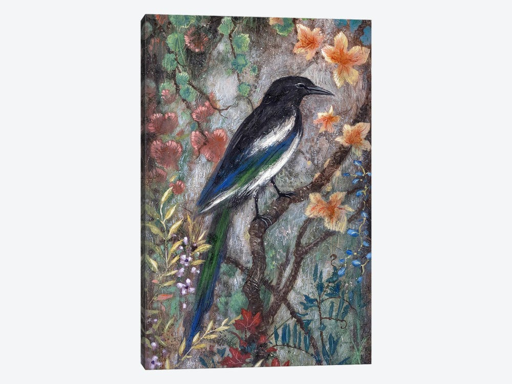 Magpie by Lisa Marie Kindley 1-piece Canvas Artwork