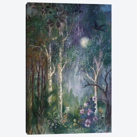 Moon Rabbit Canvas Print #LMK27} by Lisa Marie Kindley Canvas Print
