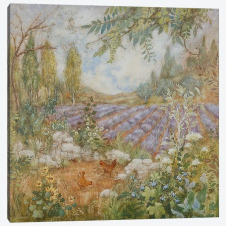 La Ferme aux Lavandes Canvas Print #LMK3} by Lisa Marie Kindley Canvas Art Print