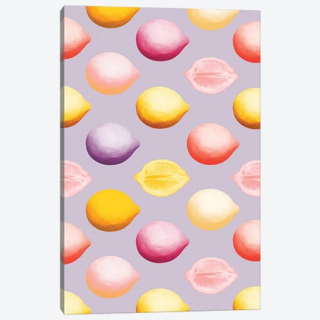 Lemons Canvas Print #LMO110} by LEEMO Art Print