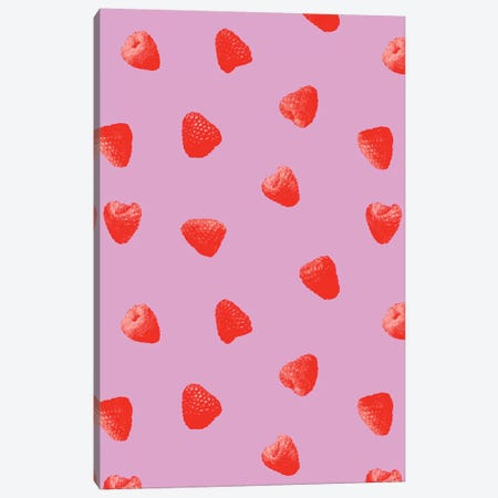 Raspberries Heaven Canvas Print #LMO120} by LEEMO Canvas Wall Art