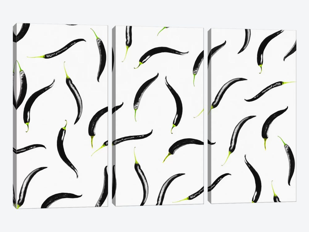 Black Chili by LEEMO 3-piece Canvas Artwork