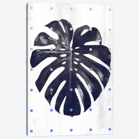 Monstera & Dots Canvas Print #LMO52} by Leemo Canvas Art Print