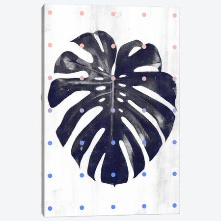 Monstera & Dots Canvas Print #LMO52} by LEEMO Canvas Art Print