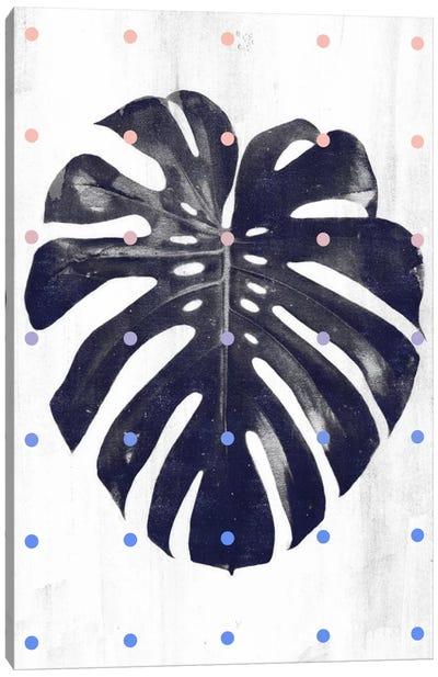 Monstera & Dots Canvas Art Print