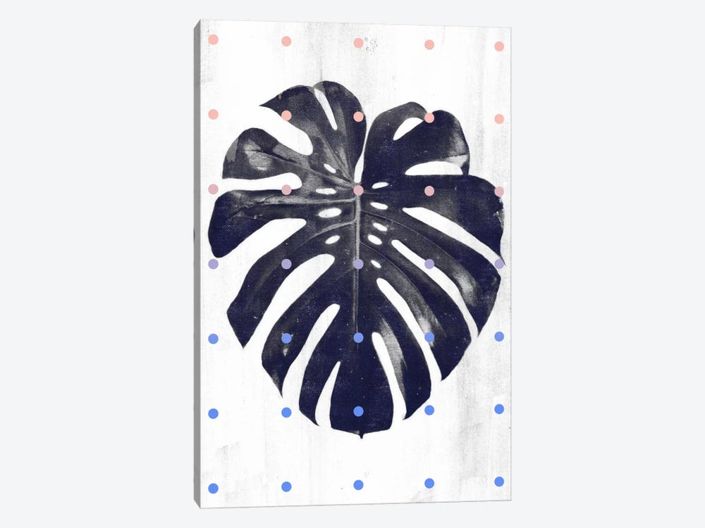 Monstera & Dots by LEEMO 1-piece Canvas Wall Art