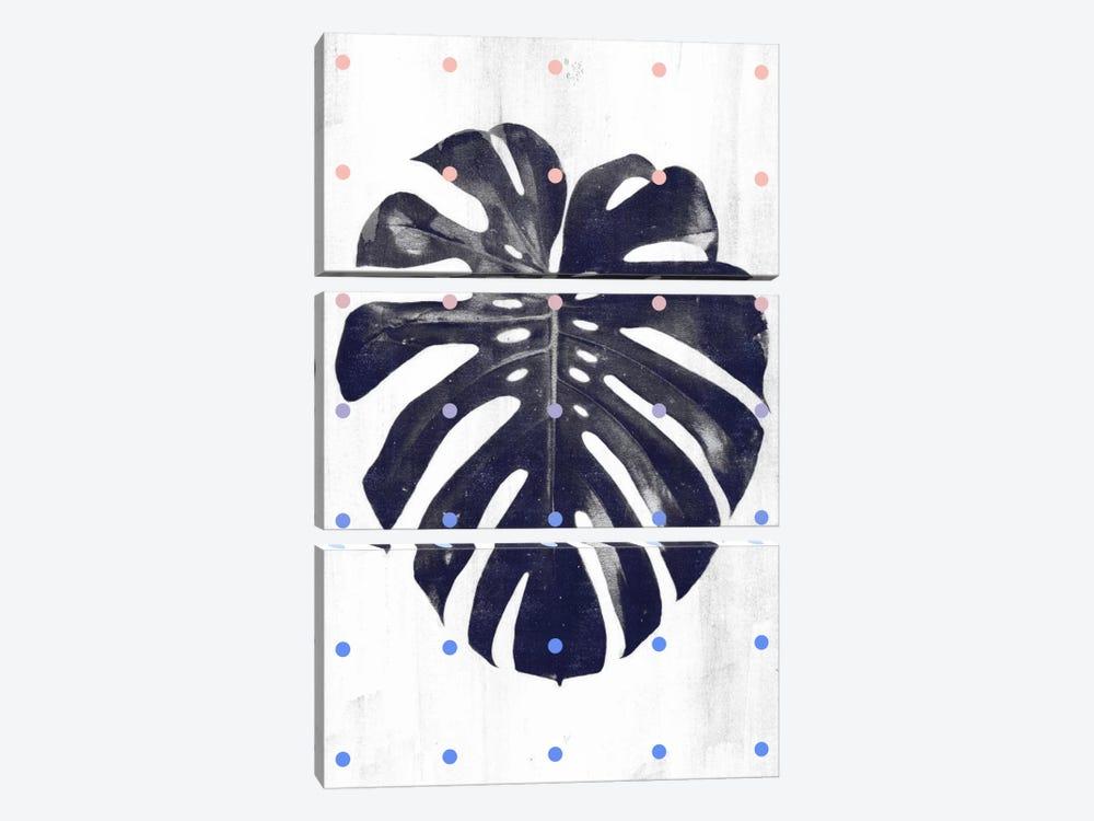 Monstera & Dots by LEEMO 3-piece Canvas Artwork