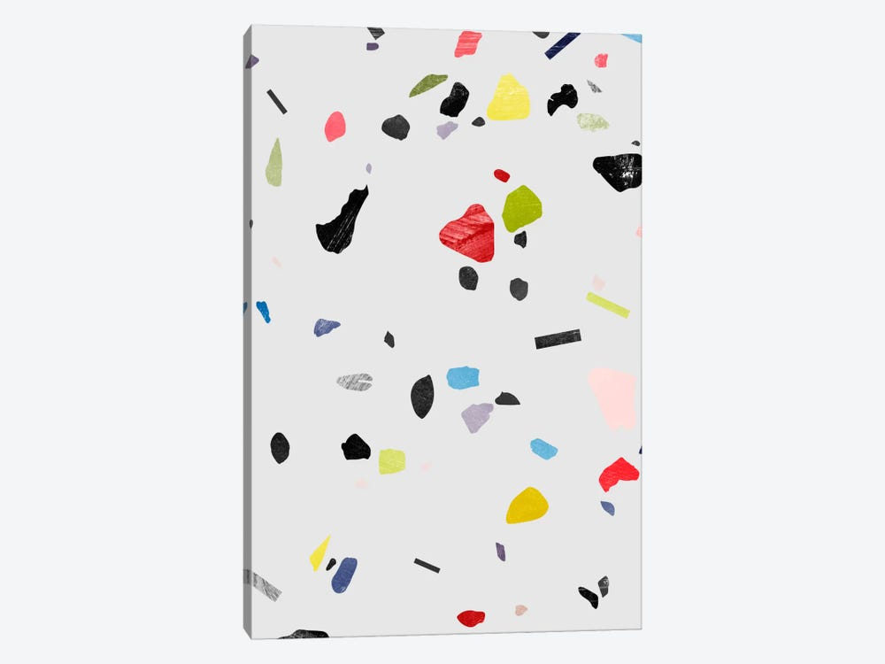 Painted Terrazzo I by LEEMO 1-piece Canvas Art