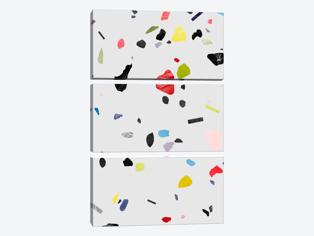 Painted Terrazzo I by LEEMO 3-piece Canvas Wall Art