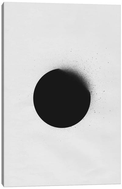 Black I Canvas Art Print