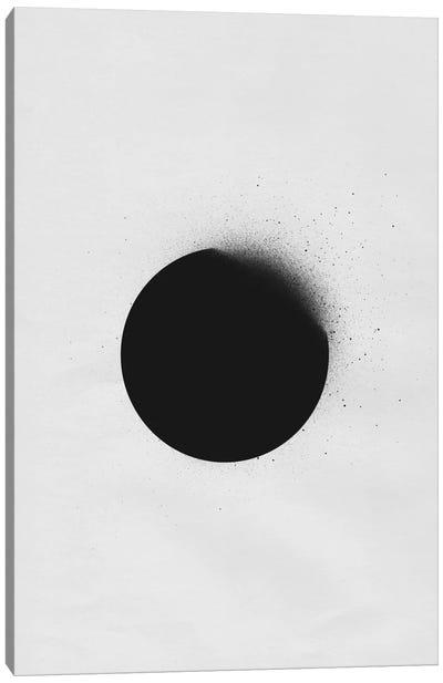Black I Canvas Art Print