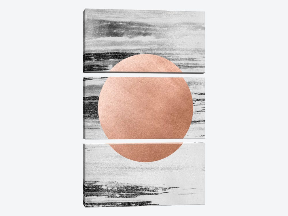 Rose Gold I by LEEMO 3-piece Art Print